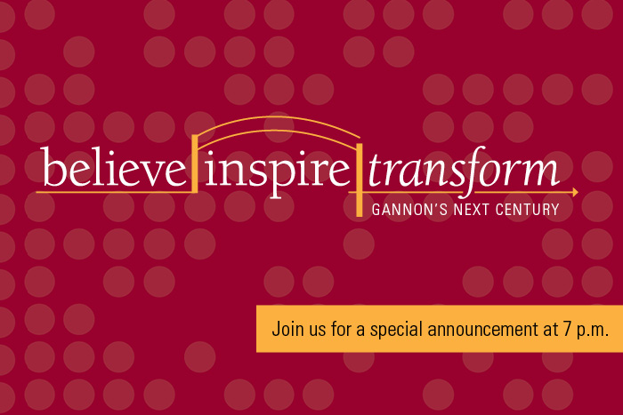 Believe. Inspire. Transform. Accouncement at 7.