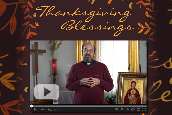 Thanksgiving Blessing. Click to watch.
