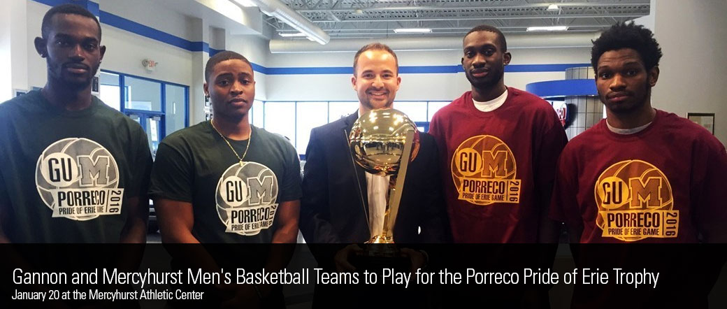 Gannon Men's Basketball Team Defends Porreco Pride of Erie Game Trophy with 82-76 Victory Against Mercyhurst