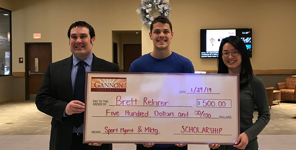 Gannon University Sport Management and Marketing 2019 Student Scholarship funded by Pittsburgh Pirate's ticket sales project