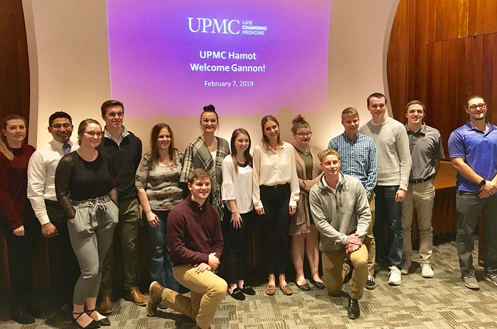Students visit and tour at UMPC Hamot in Erie
