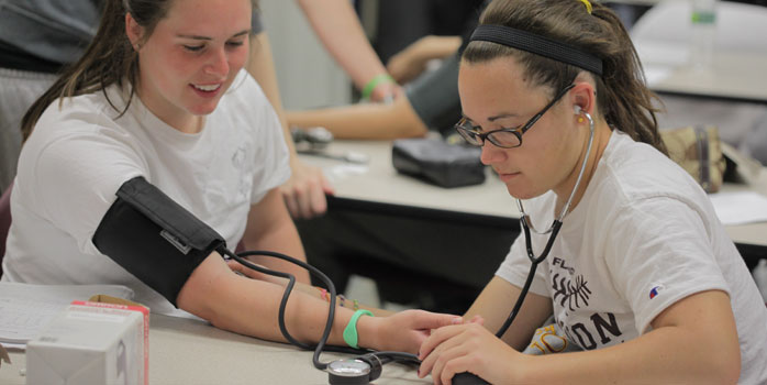 Students Monitoring Blood Pressure