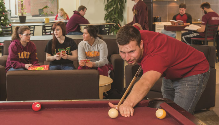 Gannon Students in Campus Center