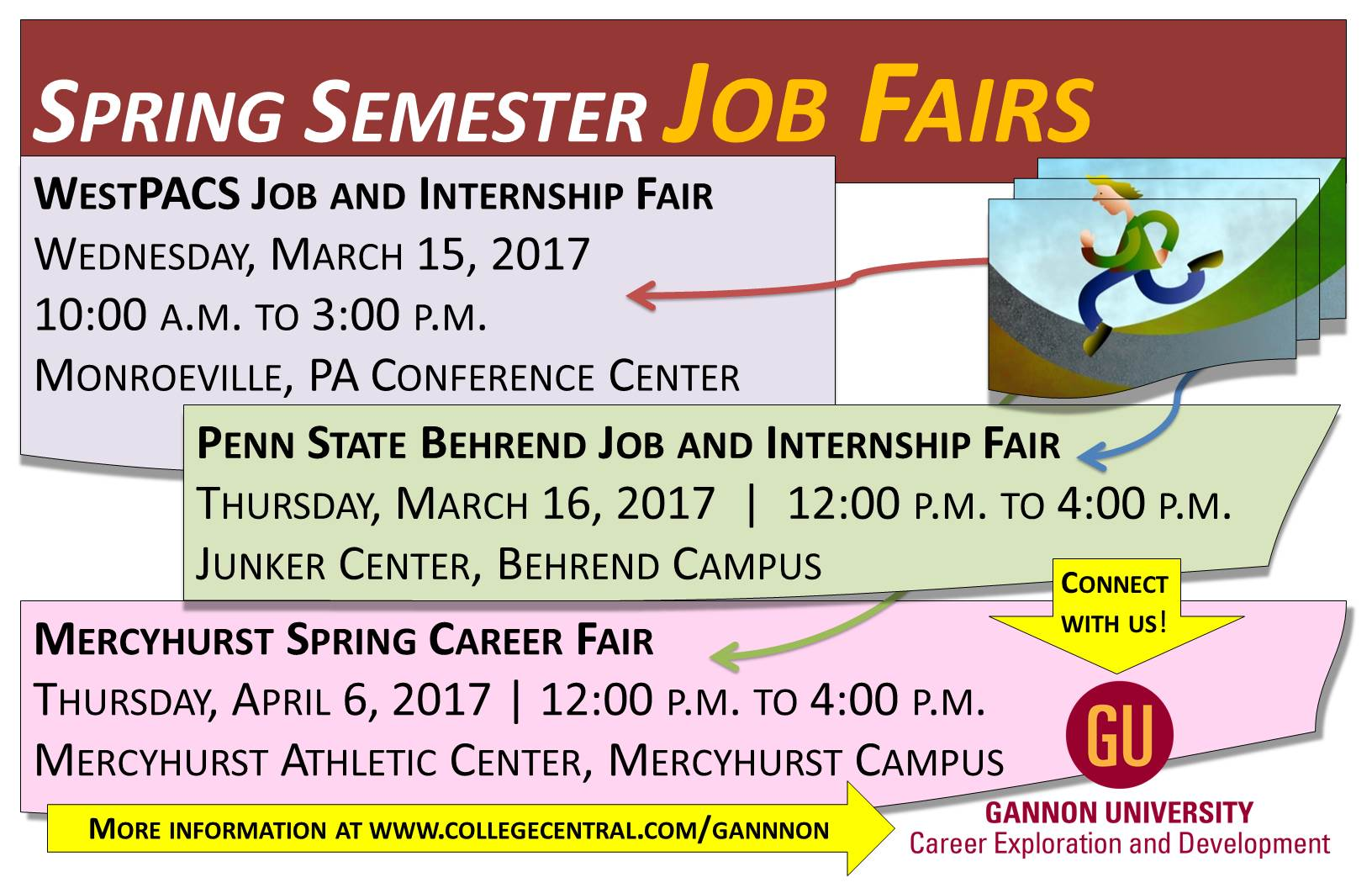 university students spring 2017 job fairs
