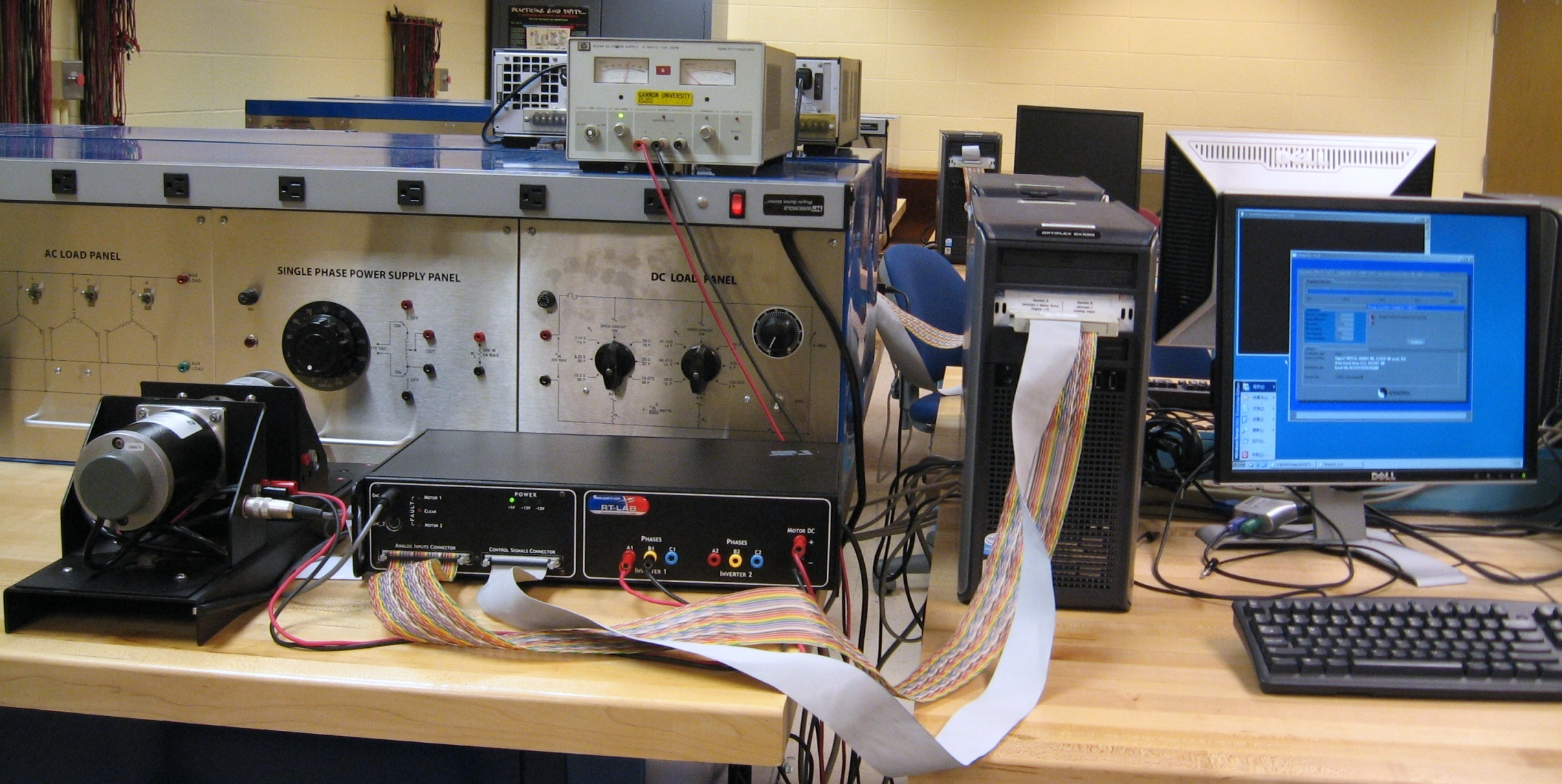 Electrical Engineer Equipment : Gannon university electric drives lab z